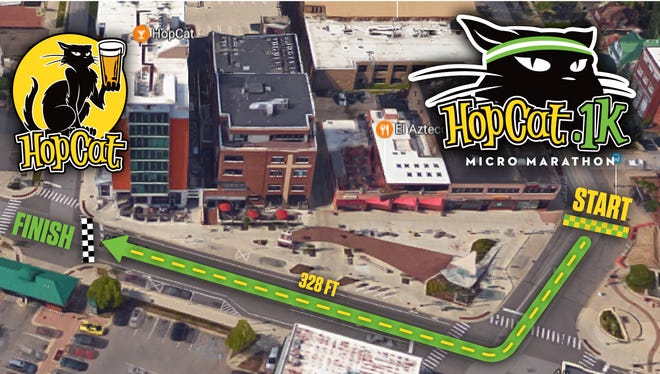 Map of HopCat .1k race route.
