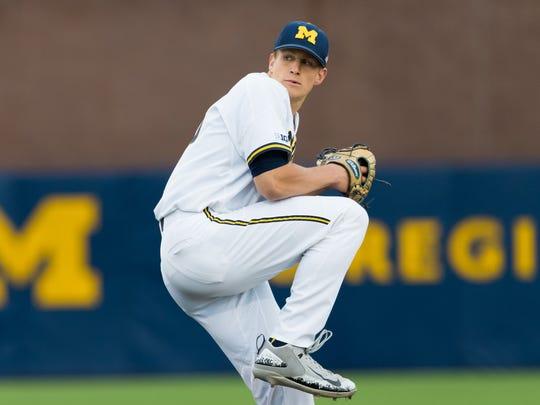 Michigan pitcher Oliver Jaskie