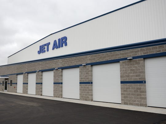 Jet Air had a grand opening for its new 36,000-square-foot hangar at Austin Straubel international Airport in Ashwaubenon on Tuesday, Oct. 21, 2014.