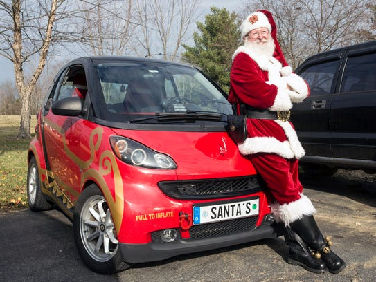 Santa has a more modern sleigh these days to help with