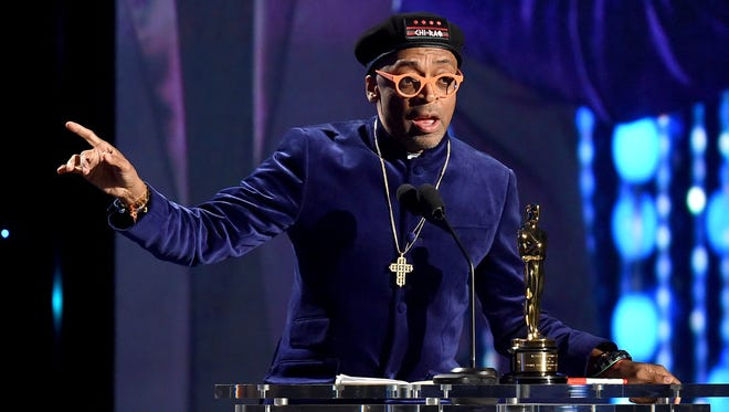 Filmmaker Spike Lee accepts an honorary Oscar during the Governors Awards at Ray Dolby Ballroom in Hollywood & Highland Center on Nov. 14, 2015, in Los Angeles.