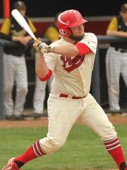 Plymouth's Seth Bailey readies himself at bat during
