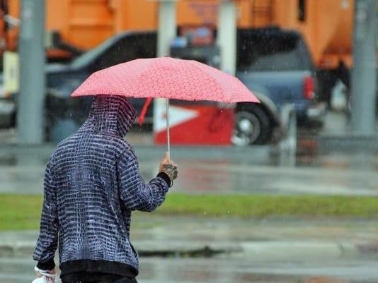 Friday rain in Titusville