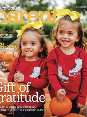 The Acosta twins of Rockledge, age 2, are our Space Coast Parent cover models for November.