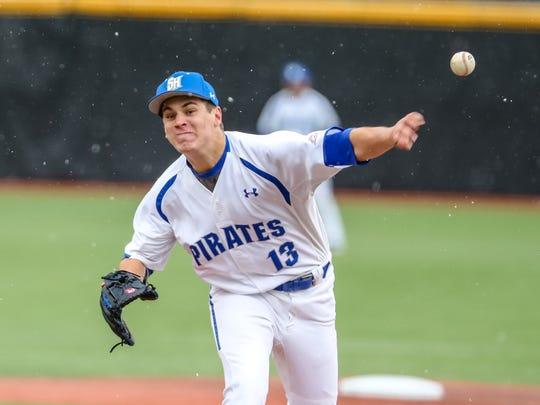 Seton Hall pitcher Tyler Burnham, an East Brunswick