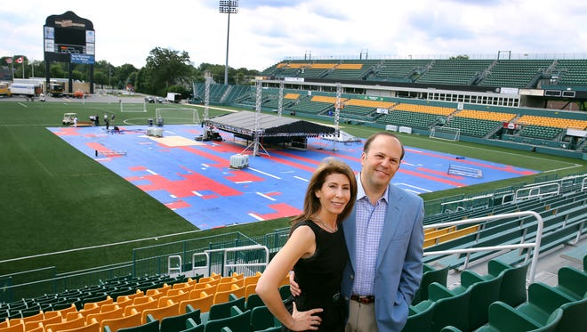 Rochester Rhinos owners Wendy and David Dworkin.