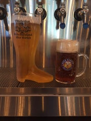 For $12, guests can buy a boot or stein filled with