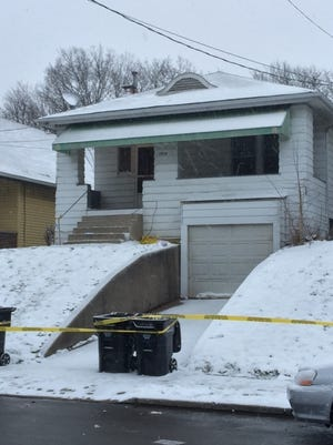The home in the 1200 block of Blanchard Ave in East Price Hill where a man shot and killed his 14-year-old son.
