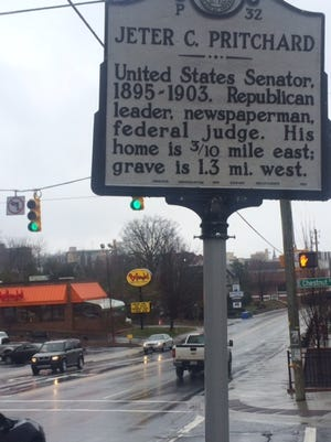 The Jeter C. Pritchard historical sign on Merrimon Avenue is among 1,500 signs statewide.