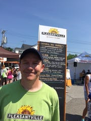 Steven Bates, executive director or market operations at the Pleasantville Farmers Market, on Saturday