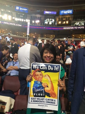 Delegate Mary Jane Sanchez at the 2016 Democratic National Convention.