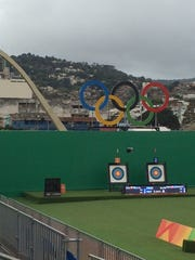 Archery at the Rio Olympics.