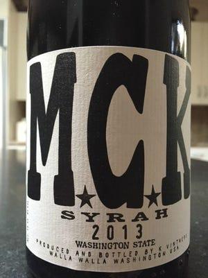 MCK 2013, 14.5% alcohol, $32