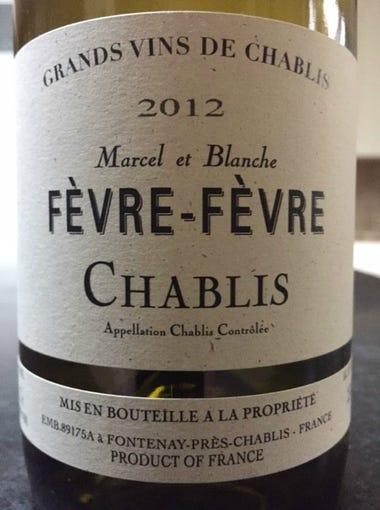 Fevre-Fevre Chablis 2012: France, $13. Great value