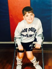 Matt Hayden -- crutches and all -- first went out for wrestling in the second grade. He never won a match through high school.