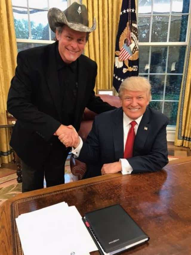 Ted Nugent tells the tale of his night with Trump and Kid Rock