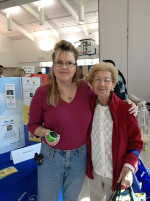 Marietta C. Manoni, left, mobility manager for RideConnect, and client Louise Spano, of Yorktown.