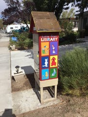 Carol Purroy's little free library.
