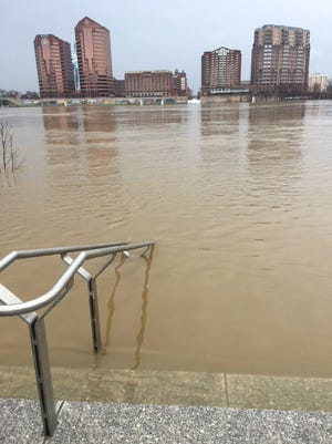The stairway to nowhere at Smale Riverfront Park in Cincinnati.