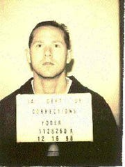 Trent Yoder, then 28, was booked in jail in May 1998.