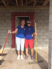 Stuart Sunrise Rotarians Brenda Gerdes, left, and Ellen