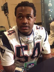 Dont'a Hightower meets the media prior to this weekend's Super Bowl.