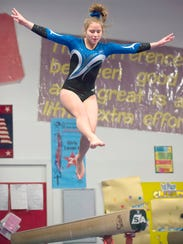Emily Stecevic was seventh all-around in Farmington