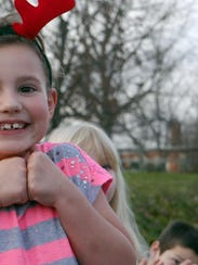 Alissa Ponton, 7 of Nelson County shows her excitement