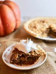 A slice of Dot's Ultimate Southern Pecan Pie.