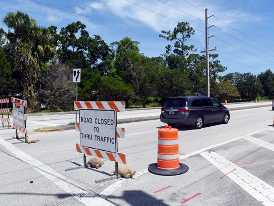 The intersection of Midway Road and Oleander Avenue will close 8:30 p.m. Friday to noon Saturday for reconstruction of the intersection as part of the widening of Midway.