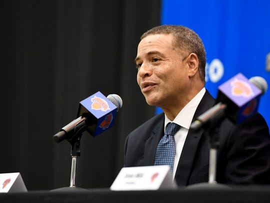 New York Knicks new general manager Scott Perry speaks