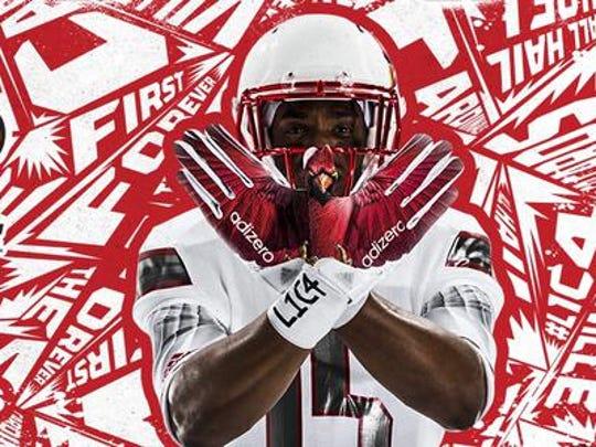 New Adidas Louisville football gloves