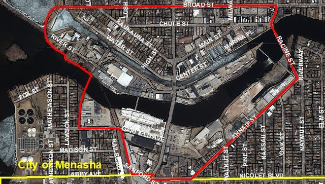 Menasha's vision plan concerns about 200 acres of land and 3.5 miles of waterfront.