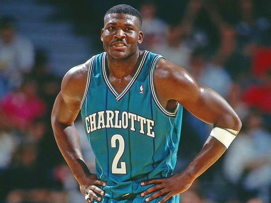 c36c9fd5d52 XXX LARRY JOHNSON JOHNSON SD6298.JPG S BKN USA FL. Larry Johnson of the  Charlotte Hornets ...