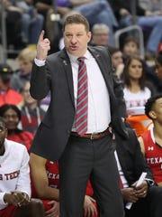 Texas Tech Red Raiders head coach Chris Beard.