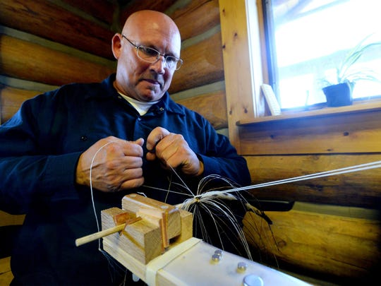 """Robert Kazmierczak, a Montana State Prison inmate, said it wasn't horsehair hitching that taught him patience. """"I've had four kids, so that did it for me,"""" he says."""