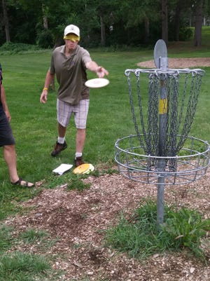 St. Cloud disc golfer Tim Mackey recently tried playing a round blindfolded at Calvary Hill Park so he could find out what it is like. Mackey will be the lead director for the blind disc golf event that will be a part of the National Veterans Golden Age Games from Friday through Aug. 8 in Albuquerque, New Mexico.