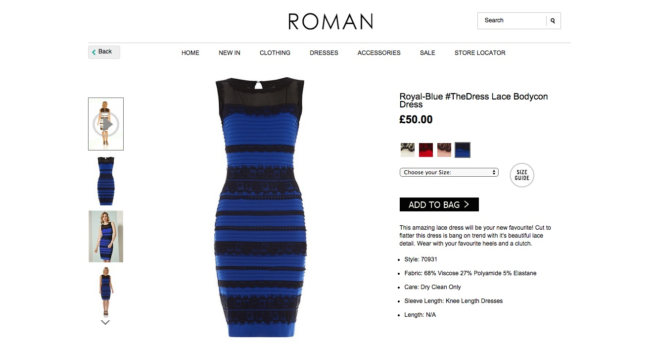 The black and blue dress explained