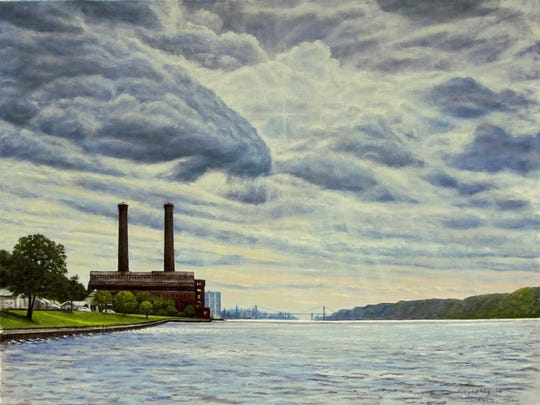 """The Old Power Station Yonkers"" by Rick Gedney is among his works on exhibit at RiverWinds Gallery, Beacon, through Nov. 7."