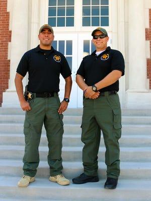 Deputy Gerald Sanchez, left, and Deputy Jeremy Maldonado are two of the school resorce officers in the Gadsden district.