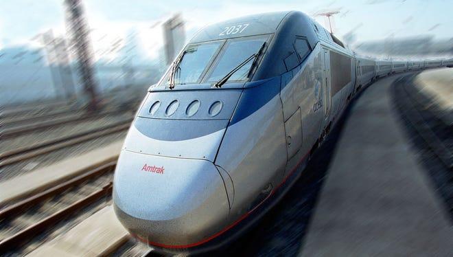 An Amtrak's Acela Express train.