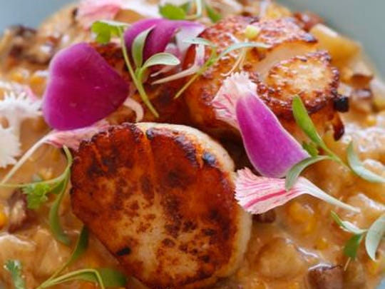 The scallops at Fontleroy's restaurant.