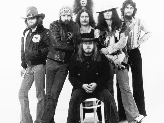 """Lynyrd Skynyrd, in a promo photo for the band's 1977 album """"Street Survivors."""""""