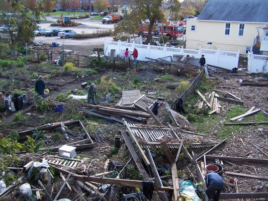 The Piermont Community Garden after Superstorm Sandy