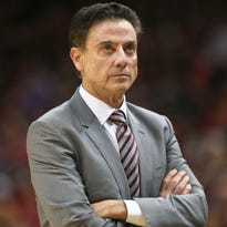 "Louisville's Rick Pitino during the game against Boston College Feb. 6, 2016. Pitino said in an interview with Sports Illustrated that he and others at the university will be ""vindicated"" when the NCAA completes its investigation into the men's basketball program."