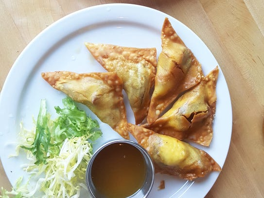 Crispy duck Rangoon with goat cheese from Common Pub