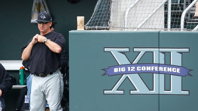 Britt Bonneau coaches the Abilene Christian University baseball team during a road trip against a Big 12 Conference team. Bonneau resigned on Saturday, May 19, 2018 after 22 years as the Wildcats' head coach.