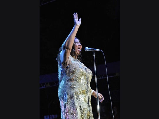Aretha Franklin plays Saturday in the Park in Sioux City on July 4, 2015. Franklin died by pancreatic cancer complications on Aug. 16, 2018.