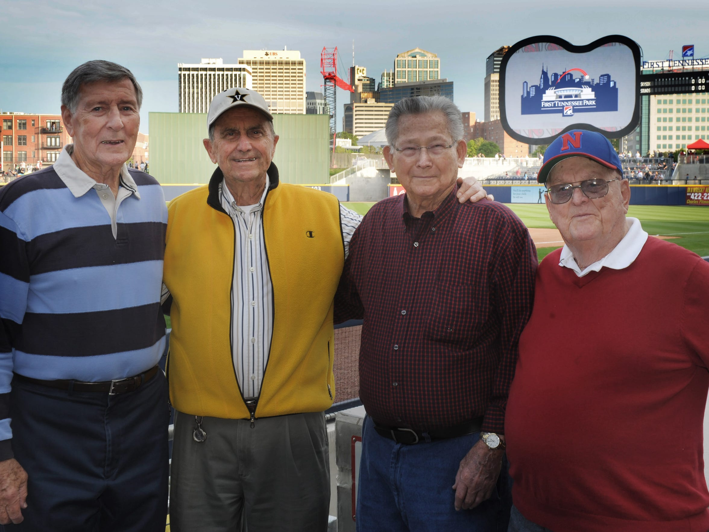 From left, Buddy Gilbert, Larry Taylor, Roy Pardue