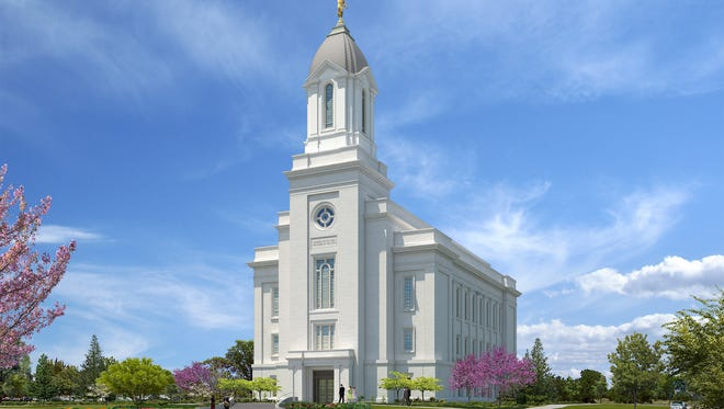 An official rendering from The Church of Jesus Christ of Latter-day Saints reveals the proposed design of its Cedar City Utah Temple. Church officials led a groundbreaking ceremony for the edifice Saturday morning at 300 S. Cove Drive in Cedar City.